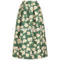 New Fashion Green Print Full Summer Mini Daily Skirt DEM/DOM Manufacture Wholesale Fashion Women Apparel (TA5026S)