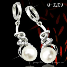 Mode 925 Sterling Silber Perlenohrring (Q-3209)