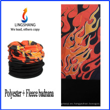 Bandolera del pañuelo del pañuelo del bandana de LINGSHANG vendas extensibles paño grueso y suave polar bandana de múltiples funciones