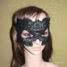 Top-seller tecido lace halloween partido máscara