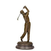 Sport Messing Statue Golfer Dekor Bronze Skulptur Tpy-395