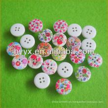 Varias formas de flor botón de madera al por mayor