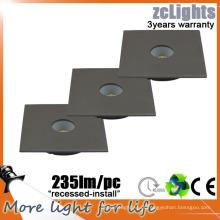 Alumínio 3W LED cozinha luz IP44 recesso LED gabinete luz 12V 3W