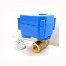 CR01 CR05 3.6v 6v 12v dn10 laiton cwx-15q motorisé mini robinet à boisseau sphérique