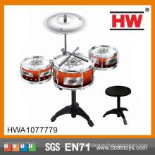 Популярные дети играют в барабанную установку Профессиональный набор игрушек для детей