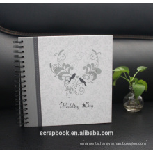 Photo Albums Embroidered flower, Love Black Sewn Leatherette Frame Cover Album