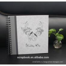Фото Альбомы вышитые цветок, любовь черный шили искусственная кожа кадр Обложка альбома
