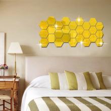 diy s-shaped 3d acrylic pet acrylic mirror sticker wall sticker