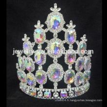 Le coutour personnalisé en gros couronne la tiare, la tiare et la couronne de mariage