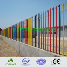 Valla de hierro forjado de PVC con recubrimiento de PVC