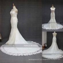 NW-348 Sweetheart Neckline Applique Mermaid Wedding Dress 2013