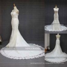СЗ-348 милая декольте аппликация Русалка свадебное платье 2013