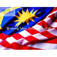 100% tela de poliéster bandera nacional