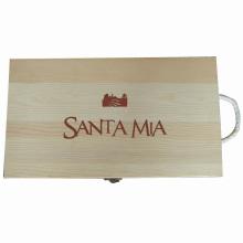 Boîte en bois cadeau personnalisé pour paquet / bijoux / vin / thé (W10)