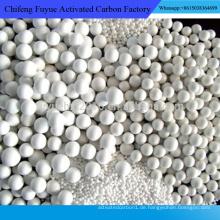 China hersteller licht weiß niedrigsten preis aktiviert aluminiumoxid ball für bussines