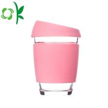 Factory Ceramic Silicone Cup Sleeve con tapa de tapa
