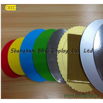 Different Colors Round Shaple 3mm Double Edged Wrapped Cake Boards (B&C-K044)