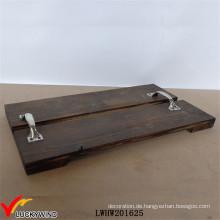 Antique Craft Farmhouse Pallet Holz Serviertabletts mit Metallgriff