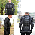 Black motorcycle body armor back chest arm protection armor motorbike body armor