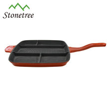 Square black multifunction cast iron mookata grill pan