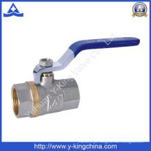 Válvula de esfera do controle do bronze dos meios da água (YD-1023)
