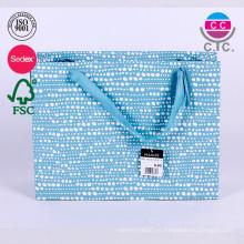 venta caliente conjuntos de 5 bolsas de papel alibaba china azul al por mayor