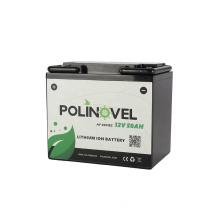 Polinovel 12v Lifepo4 Battery 12 Volt For Rv Trailer Ion Motorhome Camper Van Solar Boat Motor Marine Trolling Lithium 50ah