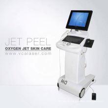 Bolsa de olhos preta removendo jato de oxigênio e água