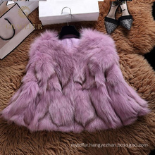 Good price hood real fox fur coat winter for woman