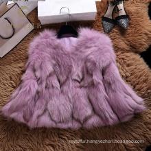 Good price hood real fox fur coat winter for woman