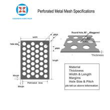 Malla metálica perforada de aluminio recubierto de PVC