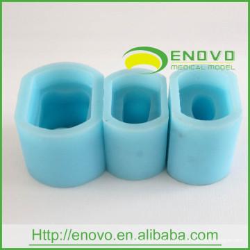 АН-Г5 6Times Силиконовой резины Материал синий один постоянный зуб прессформы