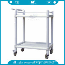 AG-UTB05 CE approved medical trolley abs hospital plastic utility cart