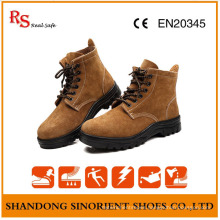 Cow Suede Leather Steel Toe Feature Safety Jogger Shoes