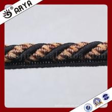 Zhejiang hangzhou Cuerda decorativa para la decoración del sofá o el accesorio de la decoración de la materia textil casera, cuerda decorativa, 6m m