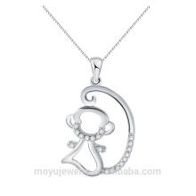 Cute monkey necklace necklace 2016 nouveaux produits