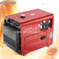 Generador diesel silencioso refrescado aire generador de 7.5 kVA