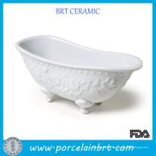 Prato de sabonete de cerâmica elegante mini banheira