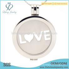 Colgante de medallón de la moneda del amor, joyería del locket de la boda