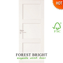 Puerta de madera interior prehung preacabada blanca con marco