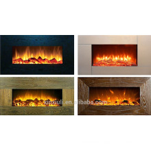 wall mounted style fireplace heater wooden frame