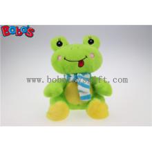 Lovely Cute Baby gefüllte grüne Frosch Tier mit blauen Schal