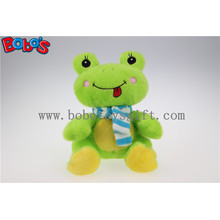 Lovely Cute Baby Stuffed Green Frog Animal with Blue Scarf