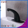 Robinet de lavabo noir Fyeer à eau froide et chaude avec robinet de réglage de la température