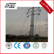Factory Price for Transmission Line Steel Pole electric transmission tower pole supply to Greece Factory