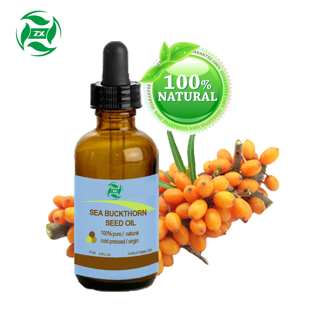 China Manufacturer Supplier Customize Label Package Seabuckthorn Seed Oil Natural Unrefined Seabuckthorn Seed Oil OEM 100% Pure Wild Seabuckthorn Seed Oil