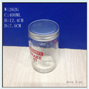 Glass Cylinder Jars 400ml with Screen Printing