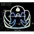 Corona plástica de la tiara de la corona de la tiara corona plástica de la tiara del color al por mayor para las muchachas