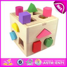 2015 jouet de boîte de bloc de boîte d'intelligence de forme pour des enfants, jouet coloré de boîte de bloc pour des enfants, jouet de boîte de bloc de vente chaud pour l'usine de bébé W12D011