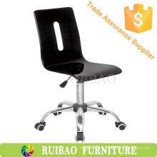 Simples cadeira de poltrona de cozinha preta Bancadas de bar de acrílico com alta qualidade
